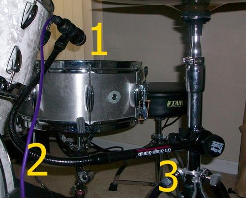 snare drum addict clamps and goosenecks for positioning mics. Black Bedroom Furniture Sets. Home Design Ideas